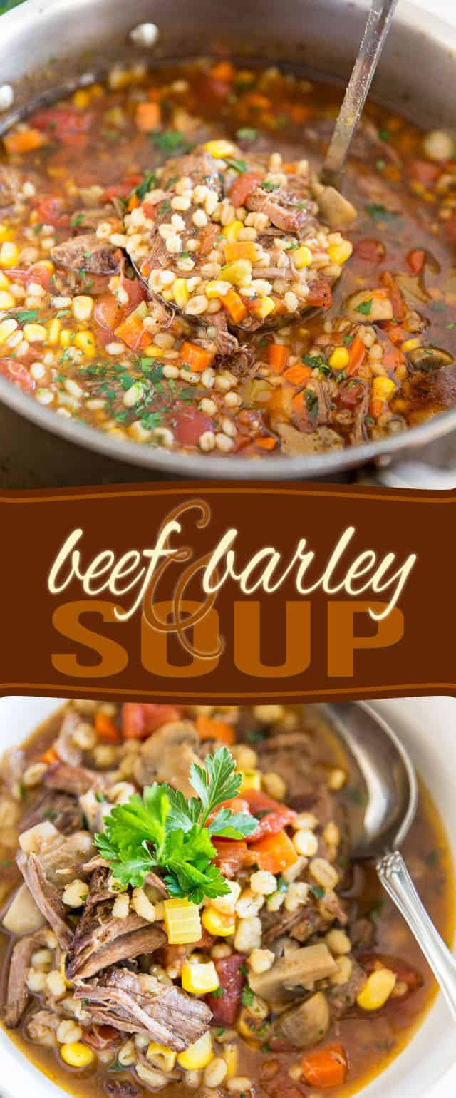 Hearty, comforting and satisfying, Beef and Barley Soup is a true food of love! Guaranteed to warm you right up even during the coldest of winter days!