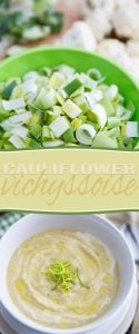 Whether you choose to serve it hot or chilled, this Cauliflower Vichyssoise is a very interesting and tasty twist on an already delicious classic!