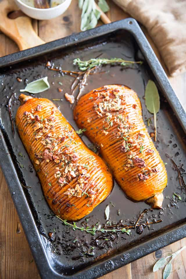 As elegant as it is delicious, this Honey Glazed Hasselback Butternut Squash is guaranteed to be the star of the dinner table.