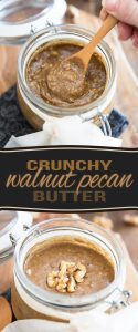 Deliciously crunchy and intensely nutty, this Walnut Pecan Butter certainly is a nice change from your usual nut butters!