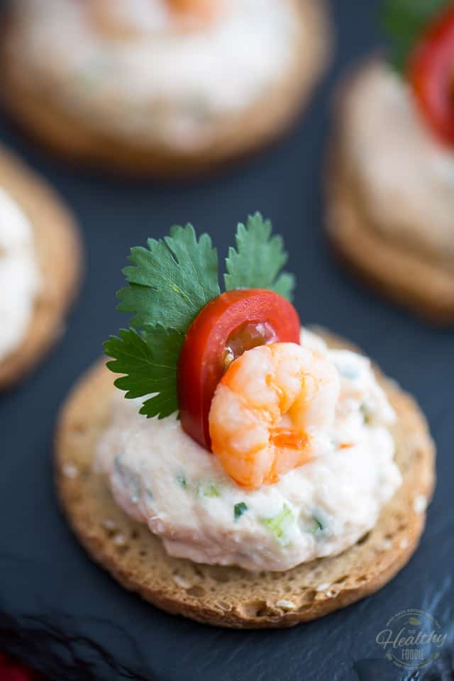 Goat Cheese Shrimp Dip And Canapés The Healthy Foodie - Canapes