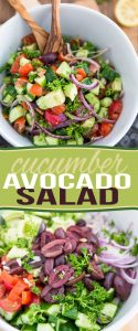 A well known classic that's so easy to make it doesn't even require a recipe, this Cucumber Avocado Salad is an absolute winner any time of year!