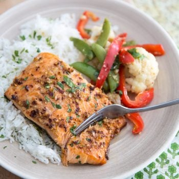 Ginger Garlic Grilled Salmon