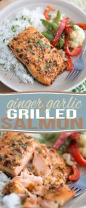 You won't believe the amount of flavor that this quick and easy Ginger Garlic Grilled Salmon boasts under its hood! Fish has never tasted so good!