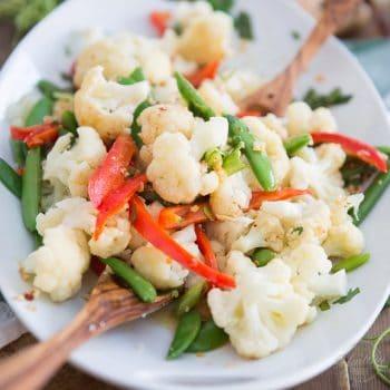 Ginger Garlic Steamed Vegetables