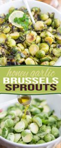 Honey Garlic Oven Roasted Brussels Sprouts - so good, they will turn even the toughest of Brussels sprouts haters into total believers!