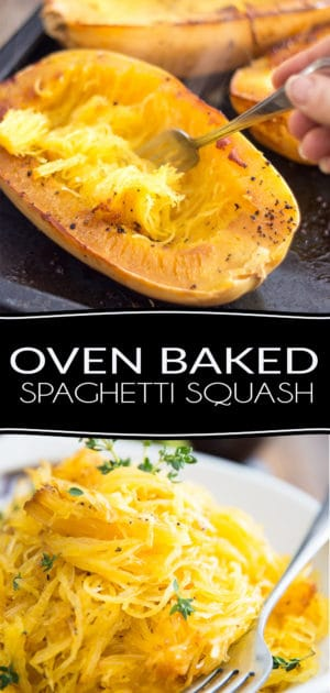 So very easy to make and so deliciously tasty, Oven Baked Spaghetti Squash might very well become your favorite side dish or pasta replacement!