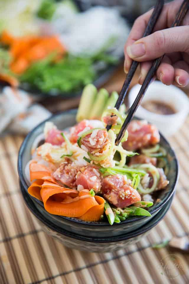 Delicious, easy, super nutritious AND so refreshing, this Poke Bowl is sure to become your favorite food item on the entire planet!