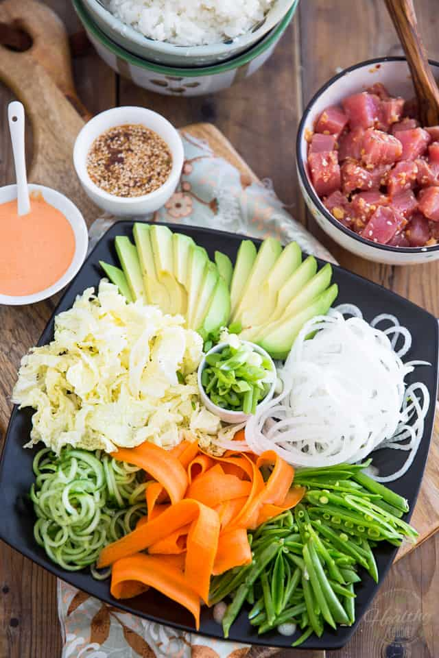 Spicy Tuna Poke Bowl by Sonia! The Healthy Foodie | Recipe on thehealthyfoodie.com