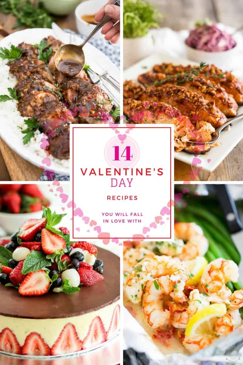 An assortment of 14 of my favorite Healthy Valentine's Day Recipes to that will have you fall in love this Valentine's Day... cuz who says healthy can't be loveable!