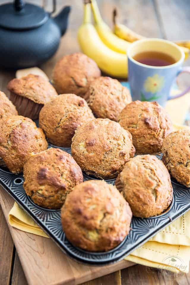 Naturally Sweetened Banana Muffins by Sonia! The Healthy Foodie | Recipe on thehealthyfoodie.com