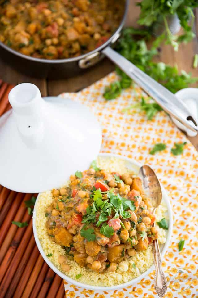 Bring an exotic taste to your table with this totally vegetarian Butternut Squash Chickpea Curry. So good, you'll want to add it to your regular rotation!