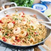 Creamy Goat Cheese Shrimp Pasta by Sonia! The Healthy Foodie | Recipe on thehealthyfoodie.com