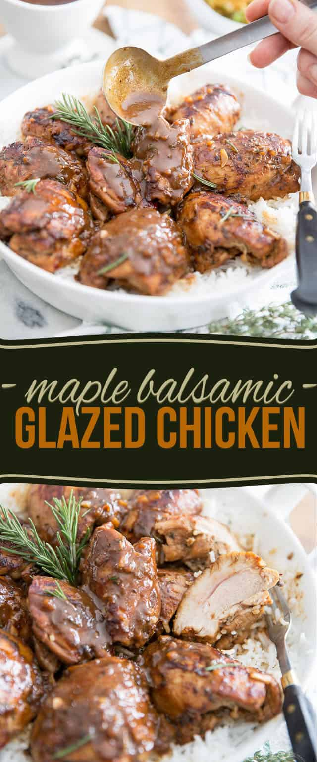 This Maple Balsamic Glazed Chicken is so deliciously tasty yet so easy to make, you'll want to serve it to your family and friends all the time