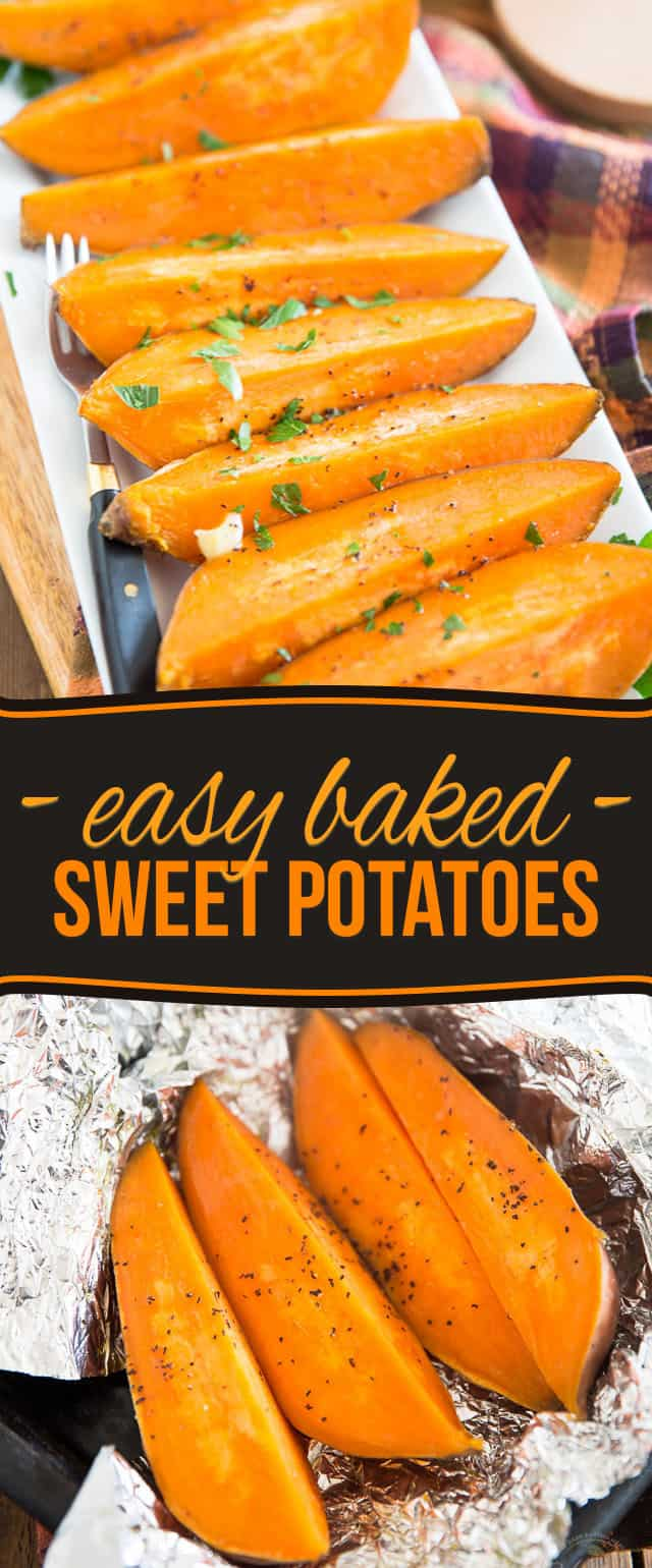 I like to have Baked Sweet Potatoes in my fridge all the time: they are so easy to make and insanely convenient to have around... Once you start doing it too, you'll never be able to do without!