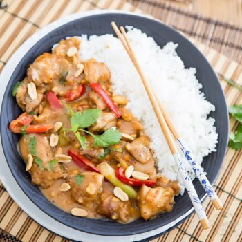 Asian Style Creamy Peanut Chicken