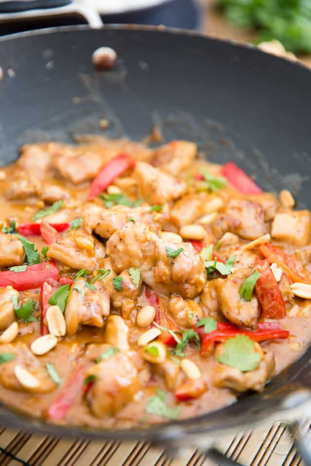 Asian Style Creamy Peanut Chicken by Sonia! The Healthy Foodie - Recipe on thehealthyfoodie.com