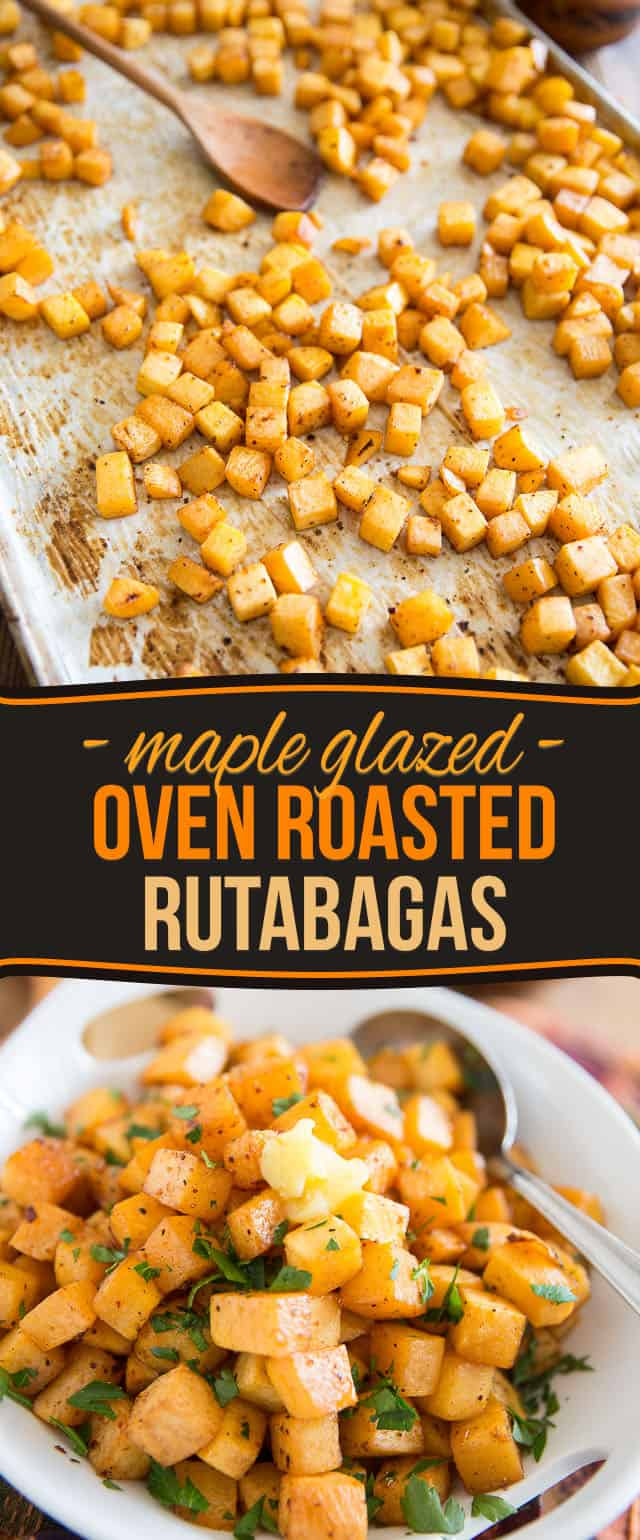 Think you're not a fan of rutabaga? Think again. Just one taste of these Maple Glazed Oven Roasted Rutabaga will have you totally begging for more!