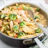 One-Pot Creamy Chicken Pasta by Sonia! The Healthy Foodie | Recipe on thehealthyfoodie.com
