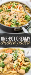 As easy to put together as it is delicious, this seemingly indulgent but surprisingly healthy one-pot creamy chicken pasta will no doubt become a family favorite!