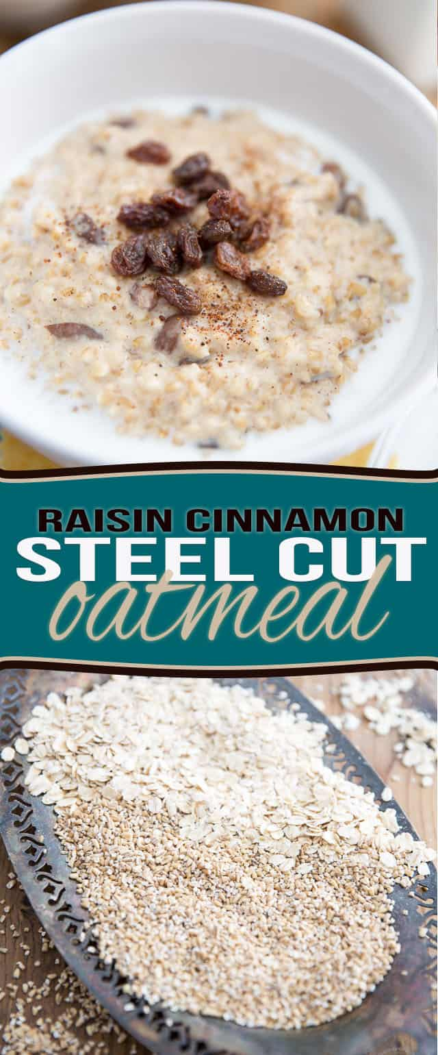 Steel cut oatmeal is nutty, chewy and creamy! Every bite is like total texture overload, warmth and comfort, all rolled into one. Delicious hot or cold!