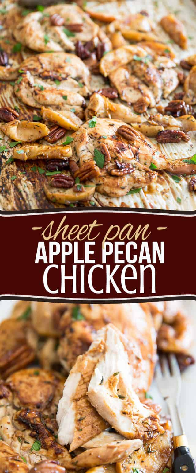 This Sheet Pan Apple Pecan Chicken is so easy to make, you'll want to have it any time of day! Try it in the morning, for a delicious start to your day!