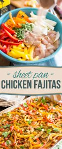 Welcome to your new favorite dish in the whole wide world: this crazy delicious and stupid easy Sheet Pan Chicken Fajitas!  And I really do mean that, seriously!