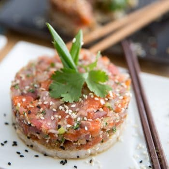 Asian Inspired Tuna Salmon Tartare