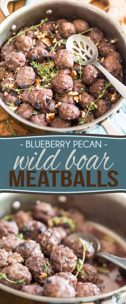 In the mood for something different? Take a walk on the wild side with these unique and flavorful Blueberry Pecan Wild Boar Meatballs.