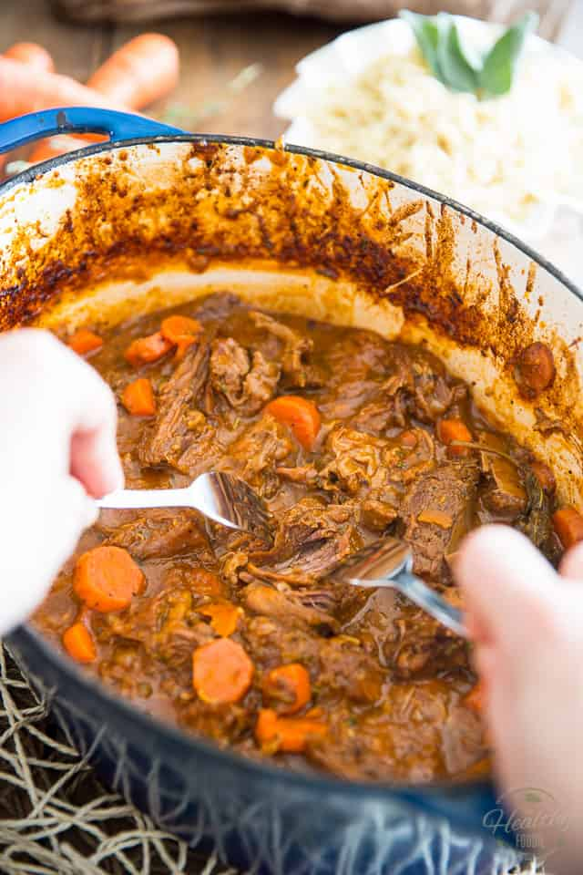 Garlic and Carrot Braised Beef by Sonia! The Healthy Foodie | Recipe on thehealthyfoodie.com