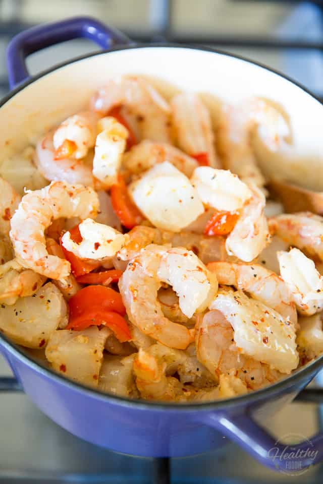 Coconut Lime Shrimp and Cod Chowder by Sonia! The Healthy Foodie | Recipe on thehealthyfoodie.com