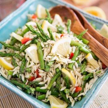 Lemony Asparagus Orzo Salad