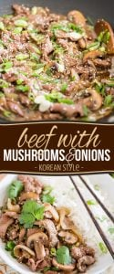 Tired of eating the same old beef with mushrooms and onions on top? Kick things up a notch by giving it a bit of a Korean twist.