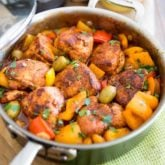 Poulet au Paprika with Bell Peppers and Green Olives by Sonia! The Healthy Foodie