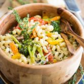 Roasted Veggies Pasta Salad by Sonia! The Healthy Foodie | Recipe on thehealthyfoodie.com