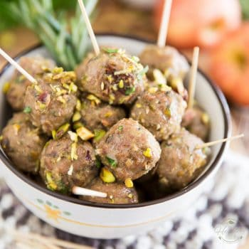 Apple Pistachio Turkey Meatballs