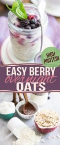 These High Protein Post Workout Berry Overnight Oats are so refreshing, so delicious and so easy to make, you'll want to work-out just so you can have some!