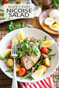 Sheet Pan Nicoise Salad by Sonia! The Healthy Foodie   Recipe on thehealthyfoodie.com