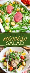 Nicoise Salad with a twist! This sheet pan version certainly brings an interesting twist to an already great classic.The best one I've had, for sure!