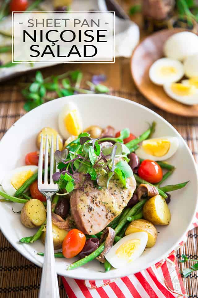 Sheet Pan Nicoise Salad