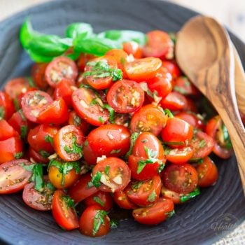 Quick and Easy Cherry Tomato Salad by Sonia! The Healthy Foodie | Recipe on thehealthyfoodie.com