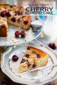 Completely free of guilt, gluten or refined sugar, this Cherry Almond Cake is so unbelievably delicious, it'll have everyone fooled, even you!