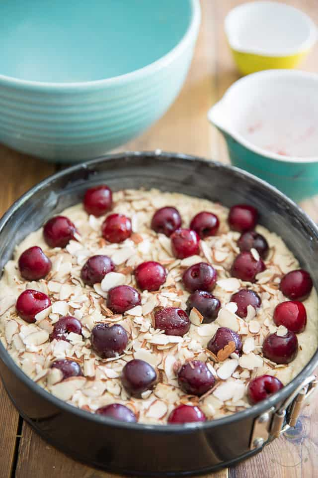Gluten Free Cherry Almond Cake by Sonia! The Healthy Foodie | Recipe on thehealthyfoodie.com