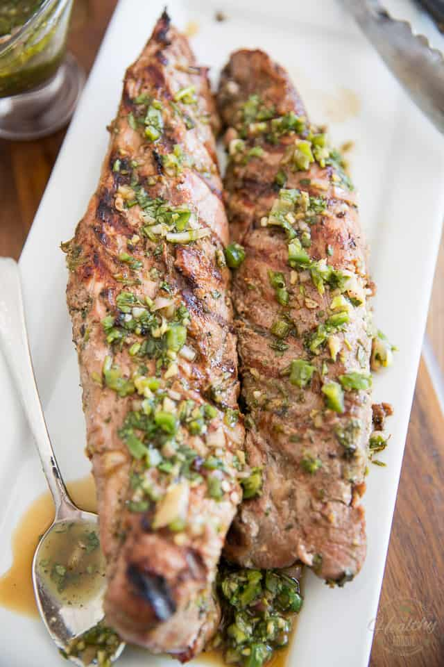 Grilled Herbed Pork Tenderloin by Sonia! The Healthy Foodie | Recipe on thehealthyfoodie.com