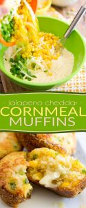 So tasty and delicious, moist and tender, you won't believe how good for you these Jalapeno Cheddar Cornmeal Muffins actually are!