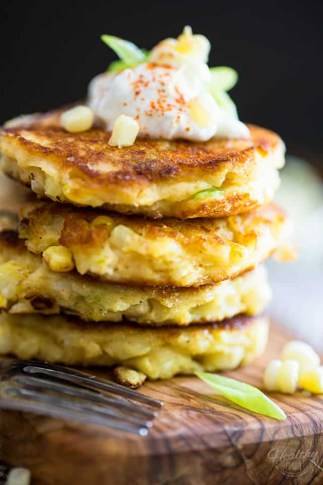 As easy to prepare (and to reheat) as they are delicious to eat, these cute little corn fritters sure are a different way to enjoy fresh corn this season!