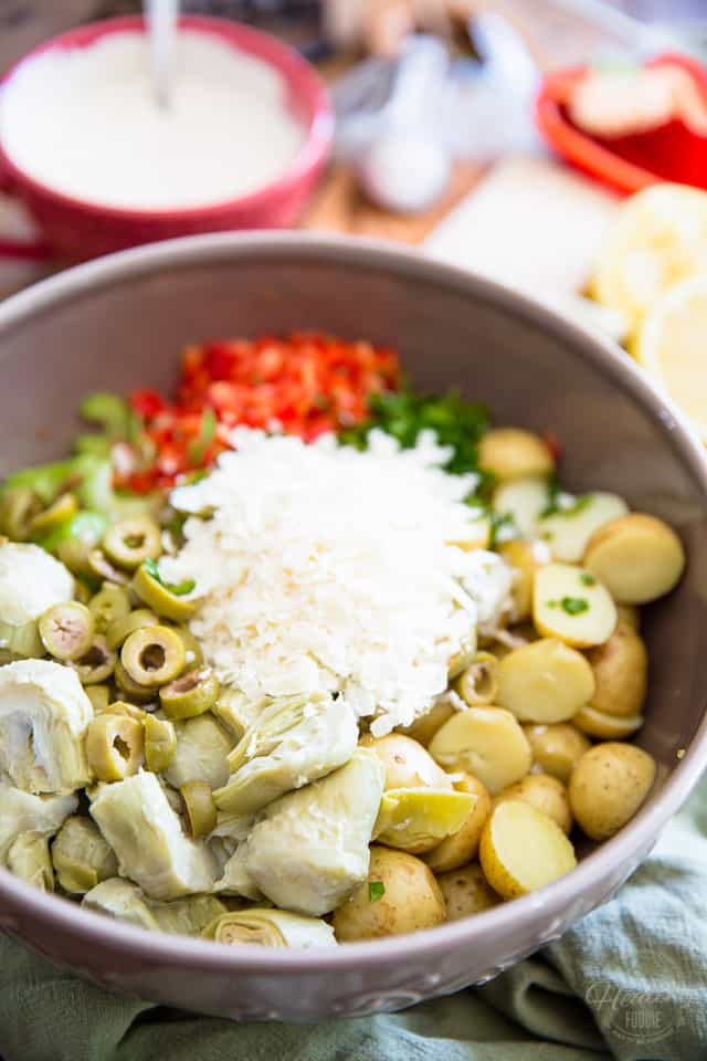 Creamy Potato Artichoke Salad by Sonia! The Healthy Foodie   Recipe on thehealthyfoodie.com