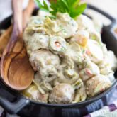 Creamy Potato Artichoke Salad by Sonia! The Healthy Foodie | Recipe on thehealthyfoodie.com