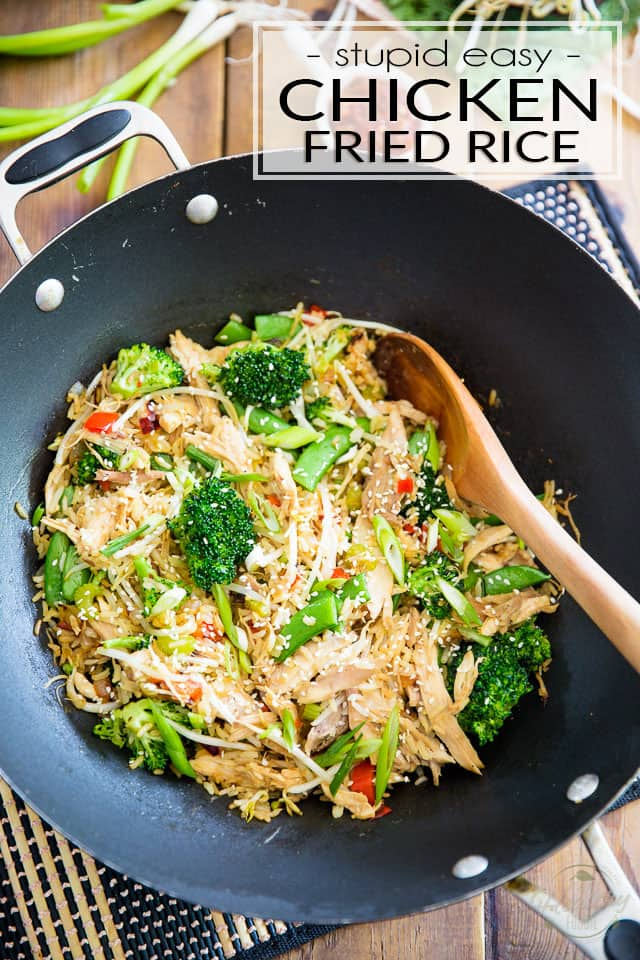 Chicken Fried Rice is an old time family favorite. Here's my quick and easy version; make it as is, or adapt it to use what you have on hand!