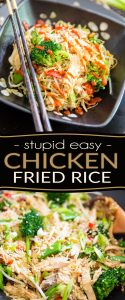 Chicken Fried Rice is an old time family favorite. Here's my quick and easy version; feel free to make it exactly as is, or adapt it to use what you have on hand!